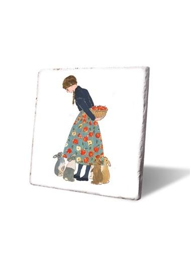 LWP Shop Elma desenli kız ve tavşanlar Nihale Renkli
